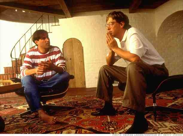 Picture of Steve Jobs and Bill Gates