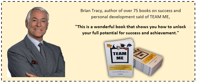 Picture Brian Tracy endorsing TEAM ME book