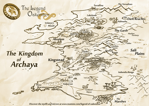 Legend of Oakenthor - Map of The Kingdom of Archaya