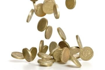 Picture of falling coins