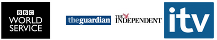 Picture of BBC World Service, The Guardian, The Independent and itv logos