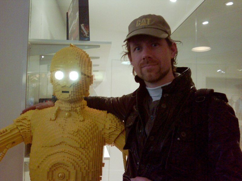Pad and C-3PO Life Size Lego Statue