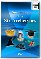 Summary of the Six Archetypes Book Cover by Pad