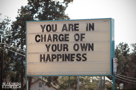 Picture of quote You are in charge of your own happiness